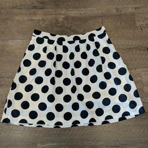 J Crew Polka Dots Skirt
